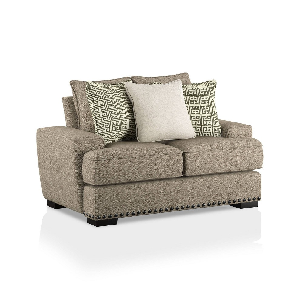 Top Pembridge Upholstered Loveseat Taupe - HOMES: Inside + Out
