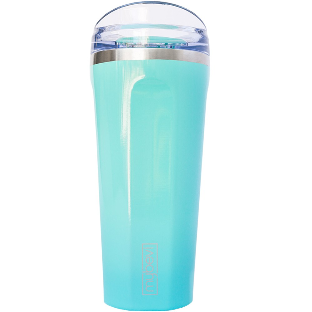 Image of MyBevi 20oz Quatro Premium Vacuum Insulated Hydration Bottle 20oz - Teal, Teal Mist