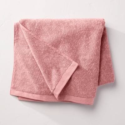 Slub Accent Organic Bath Towel Blush - Casaluna™