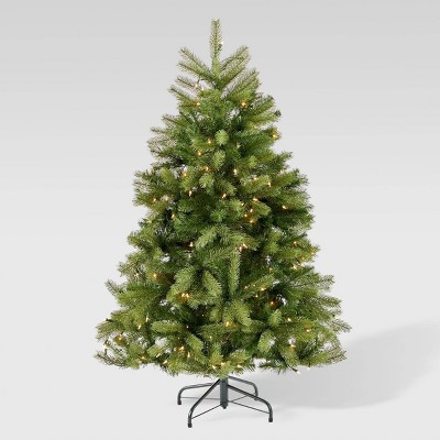 4.5ft Mixed Spruce Pre-Lit Artificial Christmas Tree Clear Lights - Christopher Knight Home