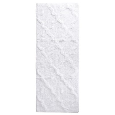 Trellis Bath Mat White - Yorkshire Home
