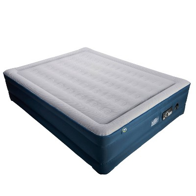 "Serta 18"" Raised TPU Queen Air Mattress with 4 Comfort Pump"