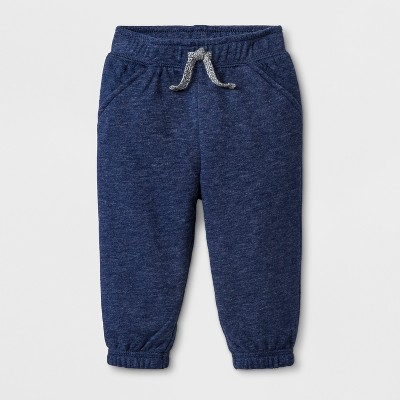 Baby Boys' Quilted Jogger Pants - Cat & Jack™ Navy Blue 6-9M