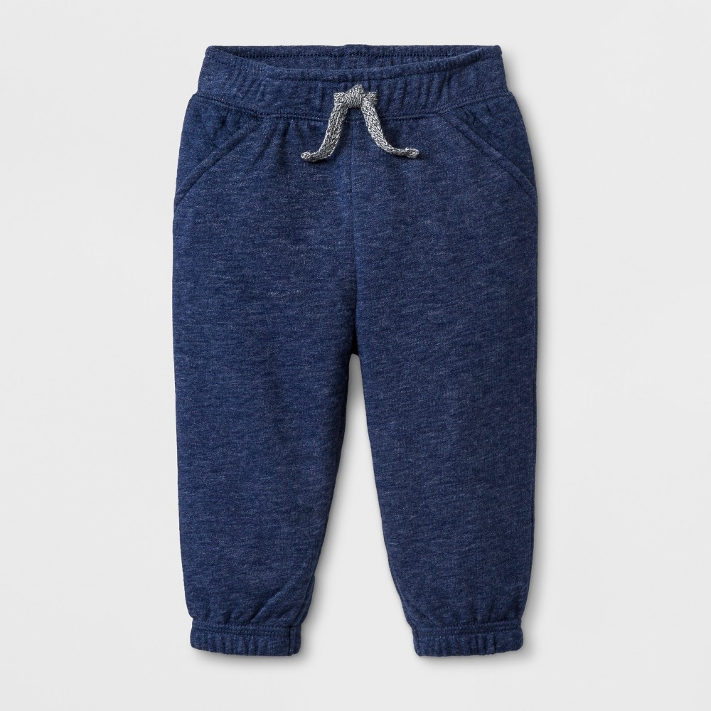 Baby Boys' Quilted Jogger Pants - Cat & Jack Navy Blue 6-9M