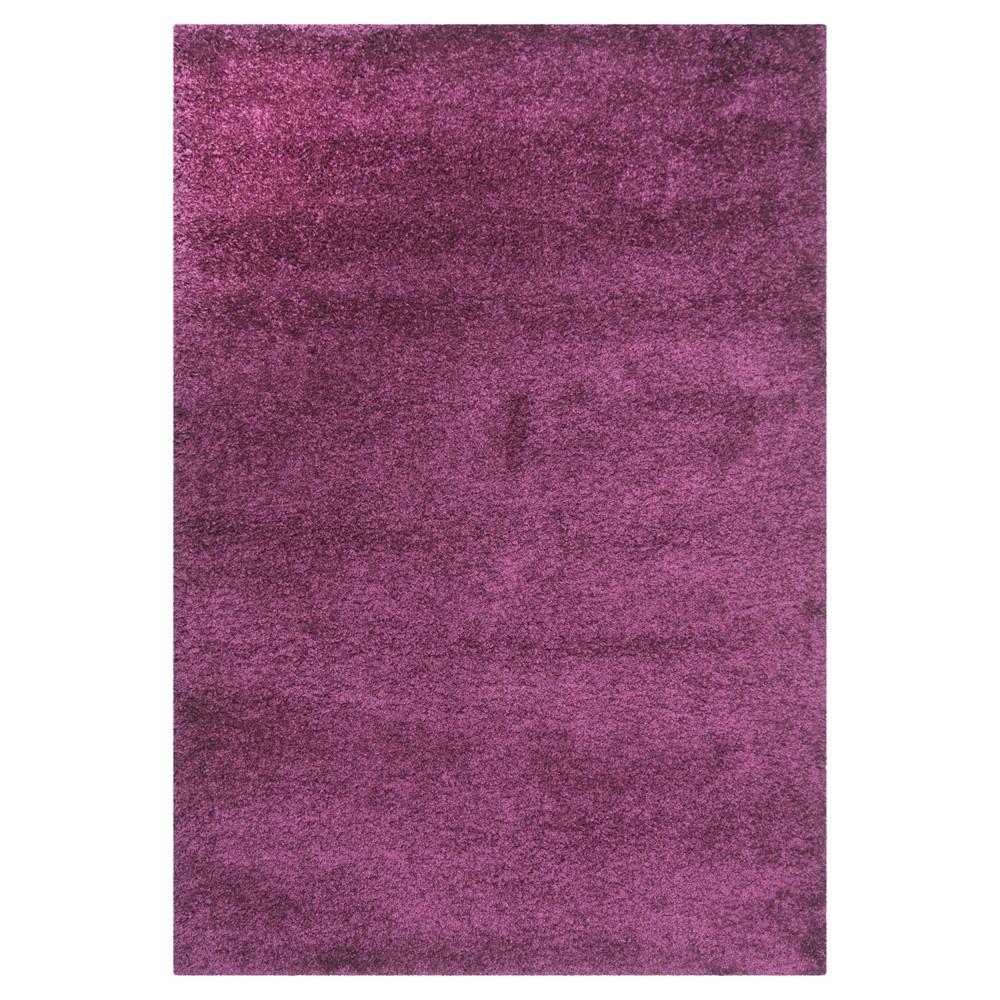 Purple Solid Loomed Area Rug - (5'3
