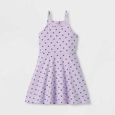 Girls' Cotton Sleeveless Dress - Cat & Jack™ Light Purple
