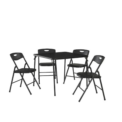 5pc Folding Table and Chair Set Black - Room & Joy