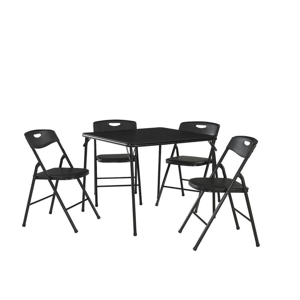 Image of 5pc Folding Table and Chair Set Black - Room & Joy