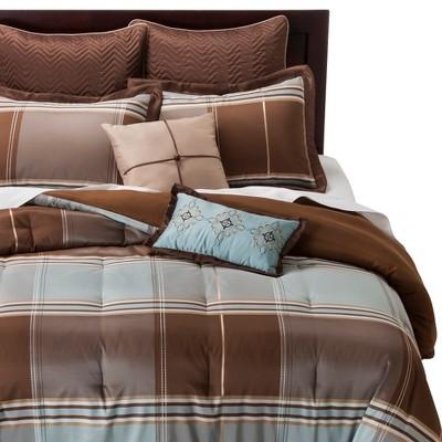Brown Daniel Comforter Set 8pc