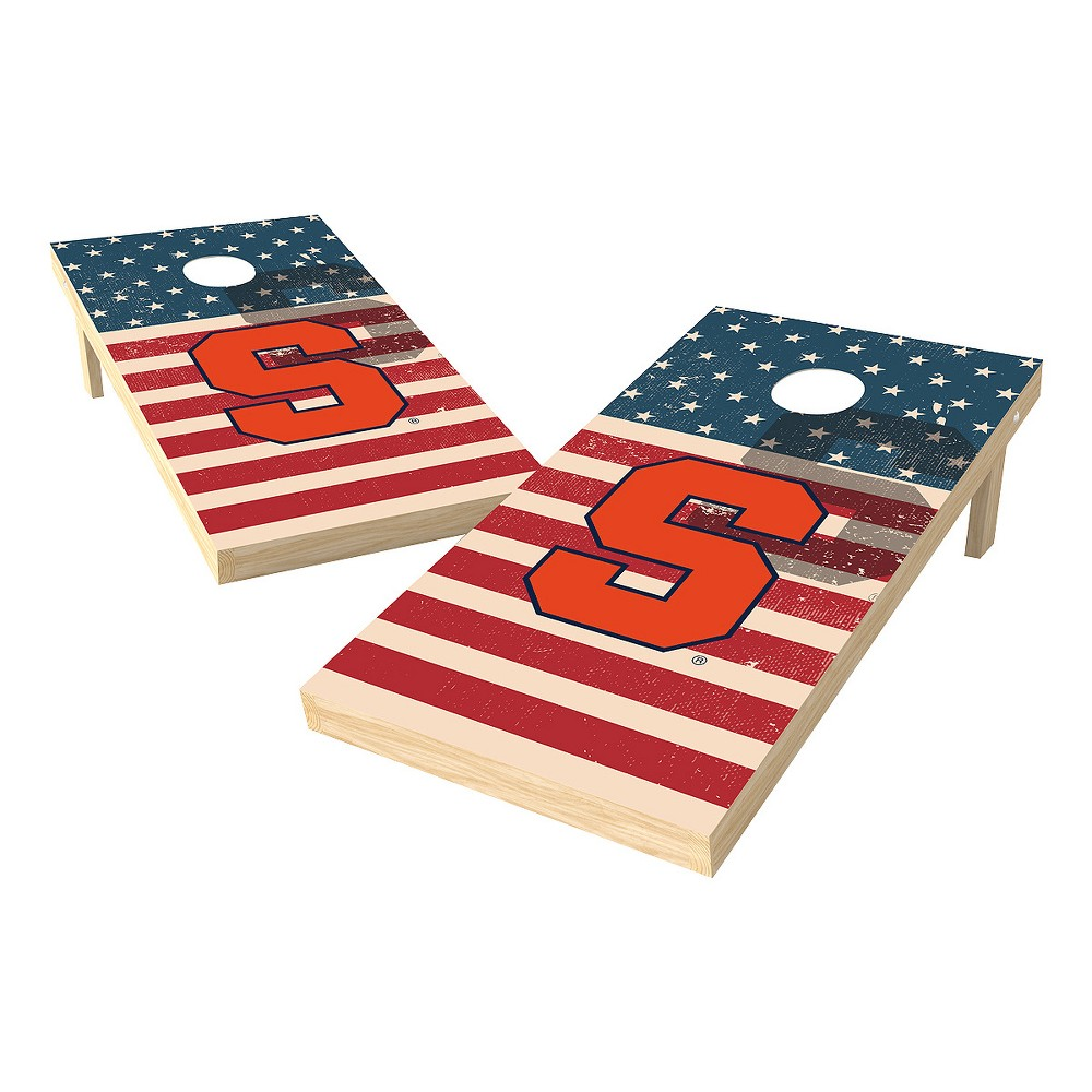 NCAA 2x4 Authentic Cornhole College Syracuse Orange Sas Worn Shadow Design