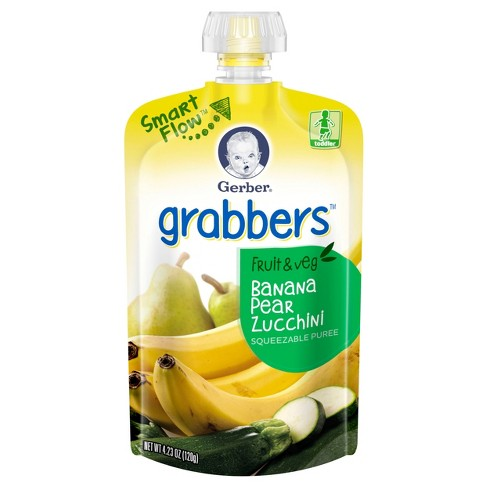 Gerber Baby Food - Fruit And Vegetable, Banana 4.23oz - image 1 of 2