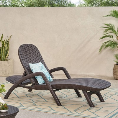 Waverly Patio Faux Wicker Chaise Lounge - Christopher Knight Home