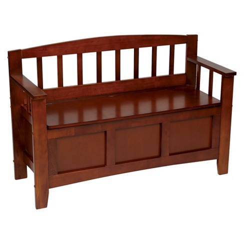 Storage Bench Brown - OSP Home Furnishings - image 1 of 4