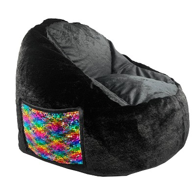Faux Fur Structured Chair with Pocket - ACEssentials