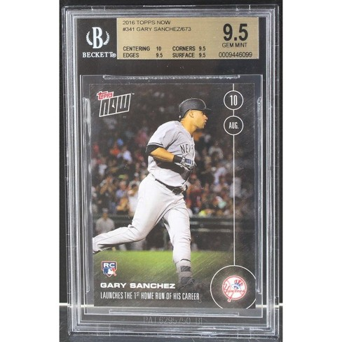 Gary Sanchez New York Yankees 2016 Topps Now Rookie Card #341 BGS 9.5 - image 1 of 2