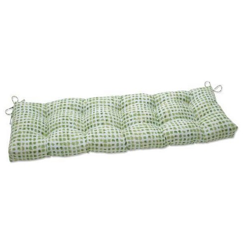 """60"""" x 18"""" Outdoor/Indoor Tufted Bench/Swing Cushion Alauda Grasshopper Green - Pillow Perfect - image 1 of 1"""