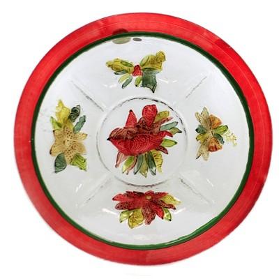 "Tabletop 2.25"" Red Bird 5 Section Server Evergreen Enterprises Inc  -  Serving Platters"