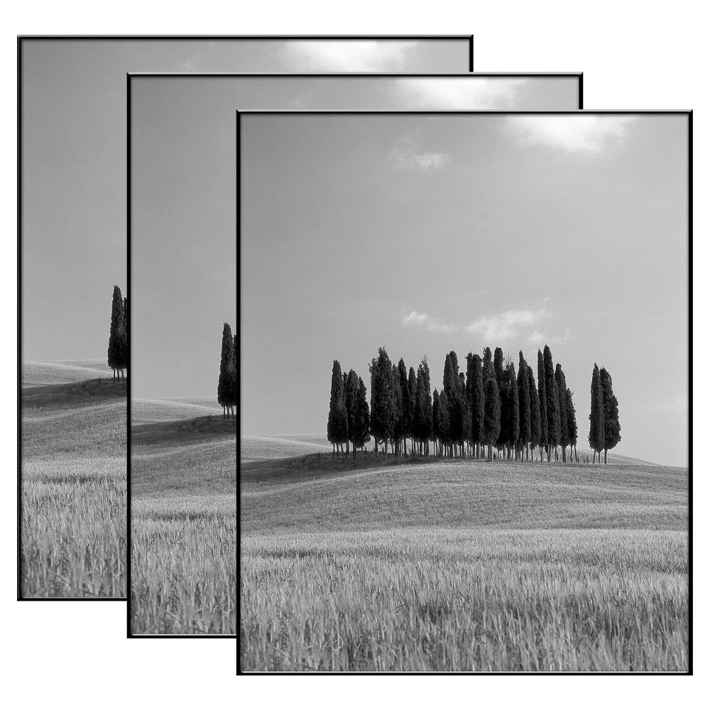 """Image of """"8"""""""" x 10"""""""" Set of 3 Format Picture Frame Set Black - MCS"""""""