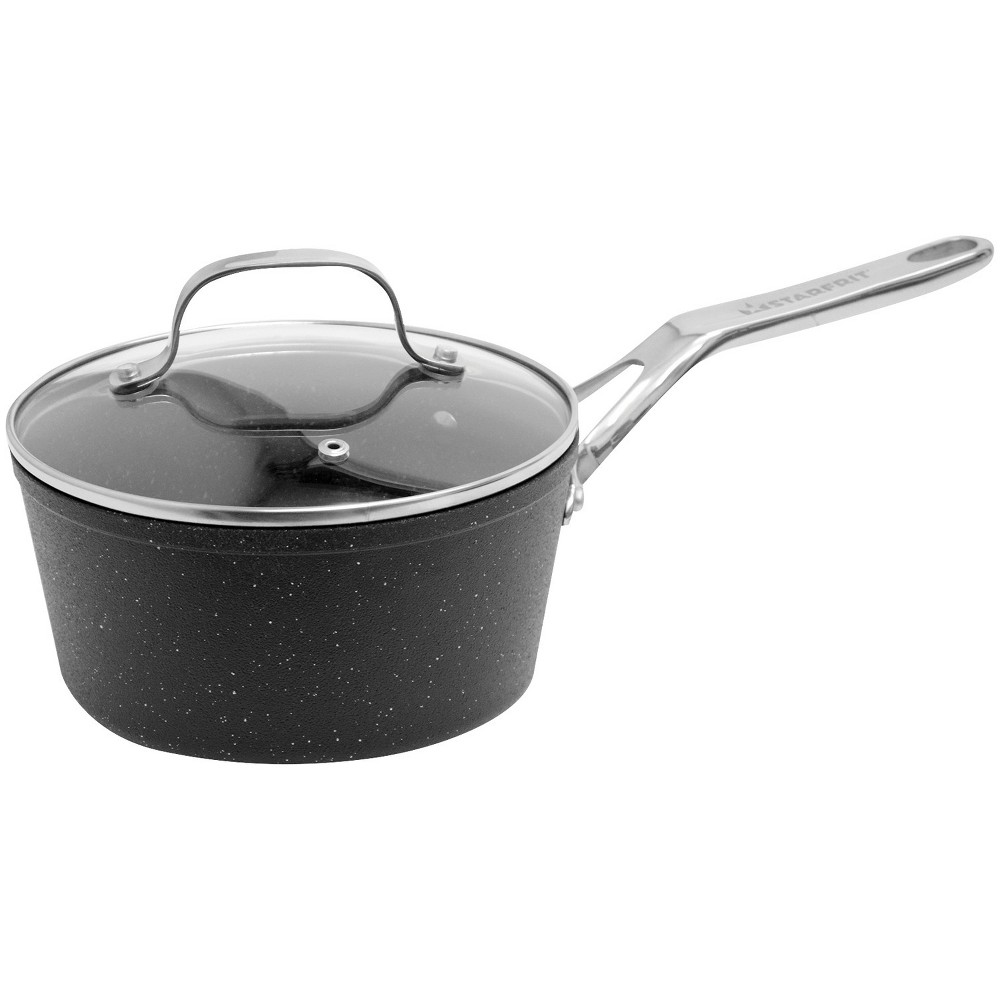 The Rock Saucepan with Glass Lid - 2 Qt., Almost Black