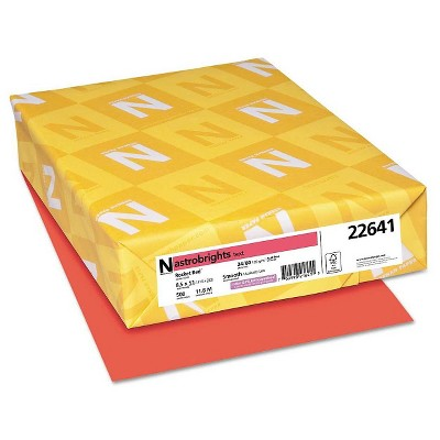 "Neenah Paper Astrobrights Printer Paper, 8.5"" x 11"", 500 ct - Red"