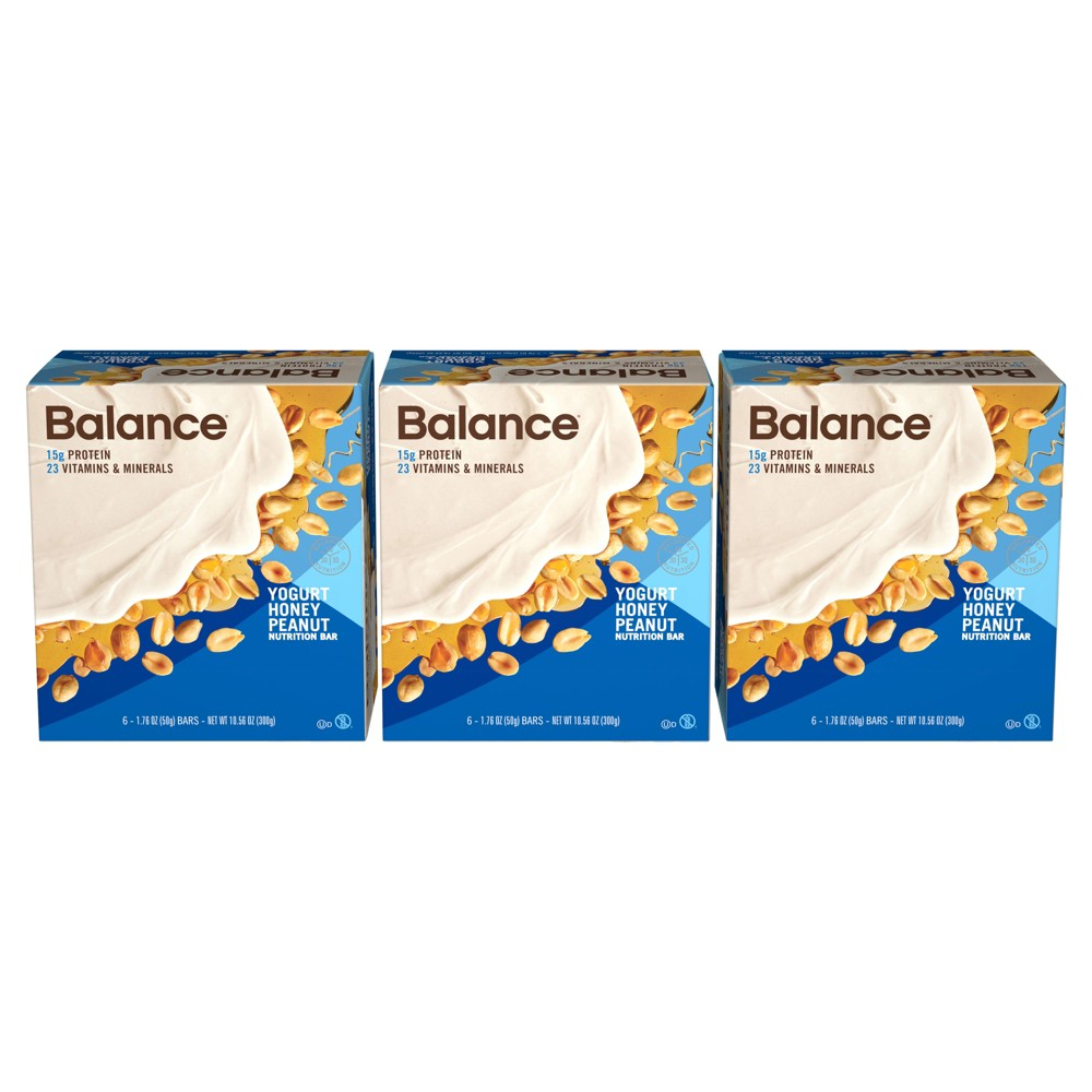 Balance Bar Nutrition Bar - Yogurt Honey Peanut - 1.76oz/18ct