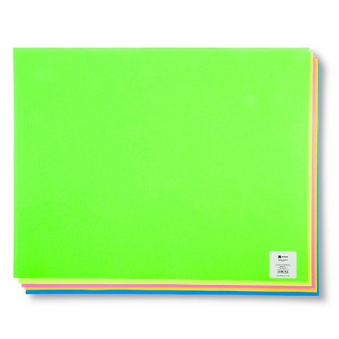 Neon Poster Board Single Sheet Assorted - Up&Up™ - image 1 of 1