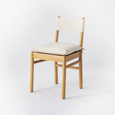 Emery Wood Dining Chair with Upholstered Seat and Sling Back Natural - Threshold™ designed with Studio McGee - image 1 of 4