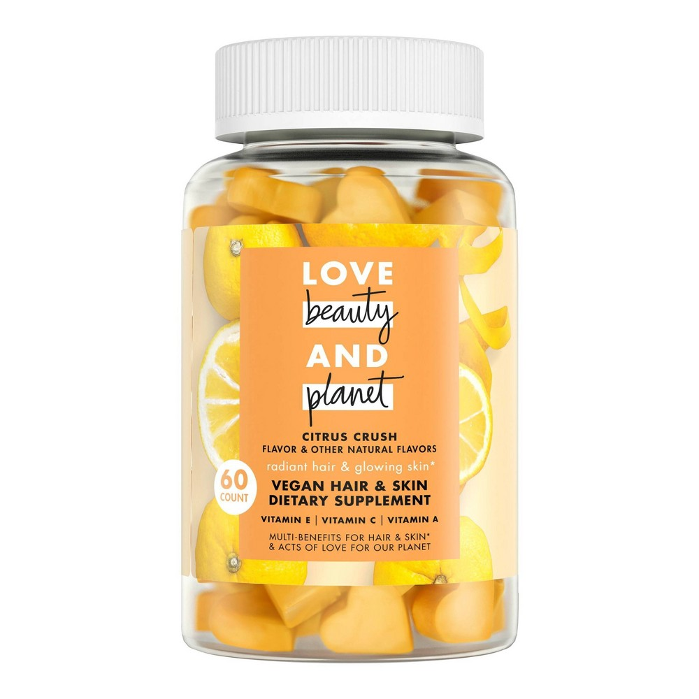Image of Love Beauty And Planet Multi-Benefit Vitamins Dietary Supplement - Citrus Crush – 60ct