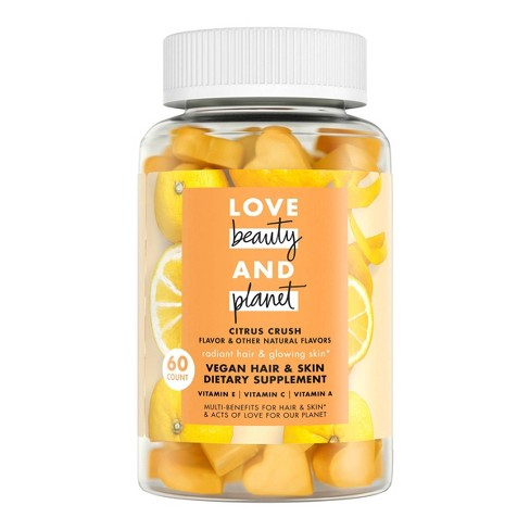 Love Beauty And Planet Multi-Benefit Vitamins Dietary Supplement - Citrus Crush – 60ct - image 1 of 4