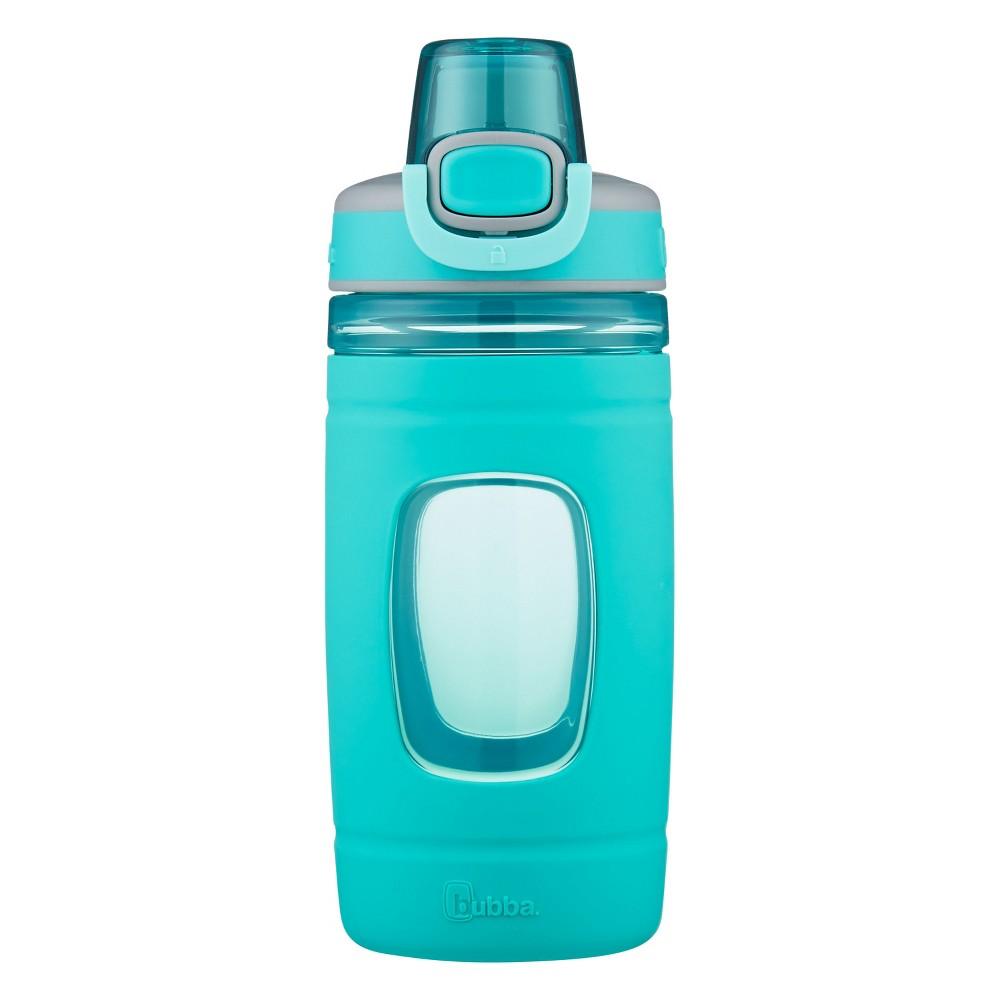 Bubba Flo 16oz Plastic Silicone Kids Water Bottle Green