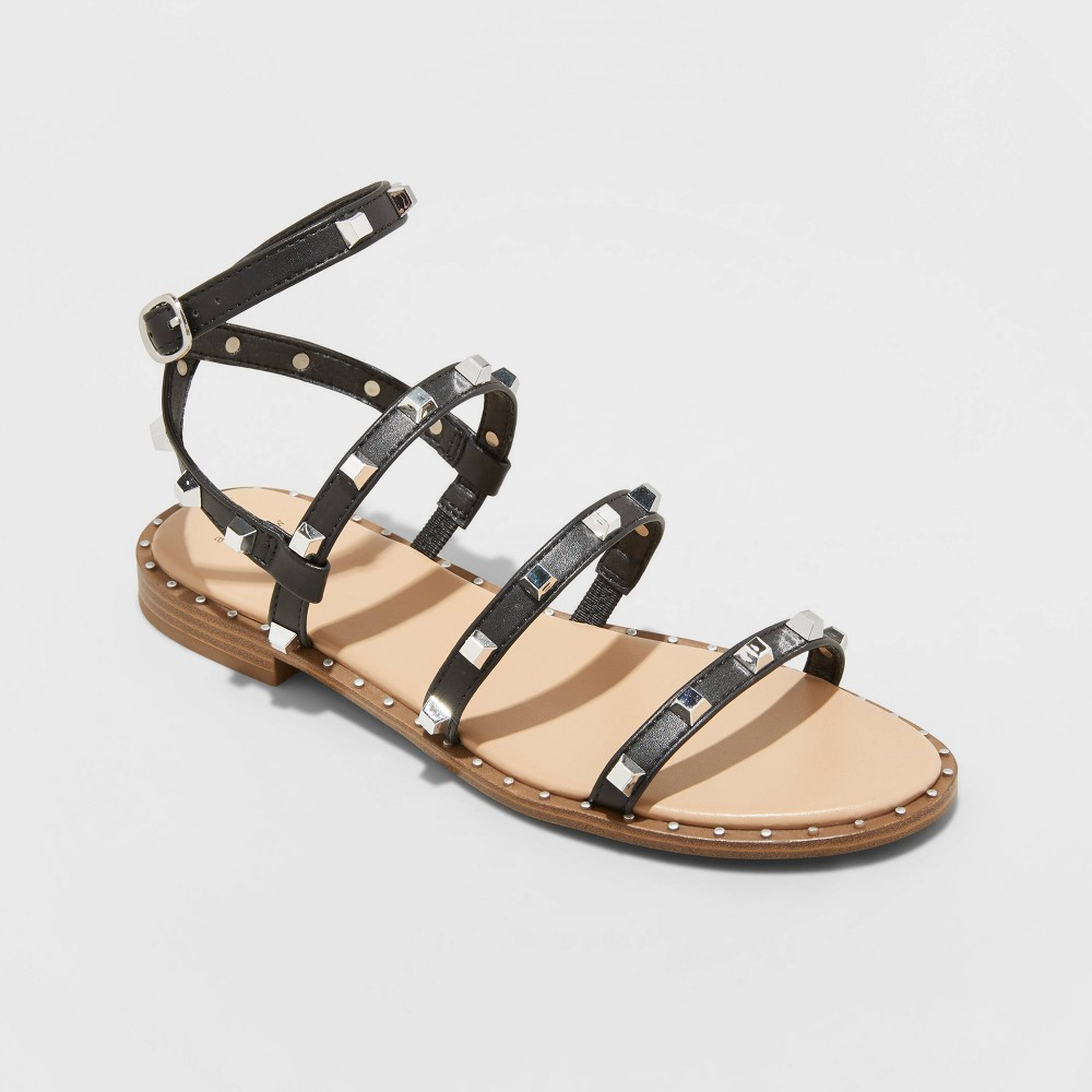 Women 39 S Astrid Studded Strappy Sandals A New Day 8482 Black 8