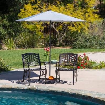 Sarasota Cast Aluminum Adjoining Patio Chair - Bronze - Christopher Knight Home