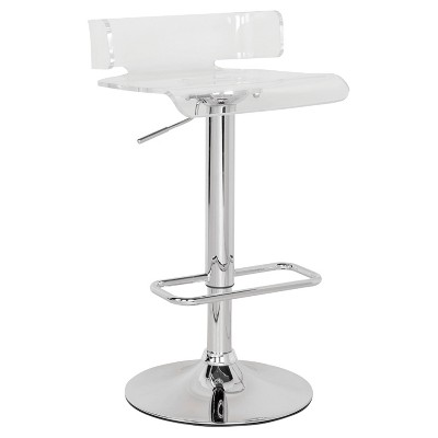 Counter and Barstools Clear Chrome - Acme Furniture