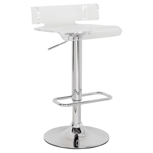 Counter And Bar Stools Acme Furniture Clear Chrome - image 1 of 1