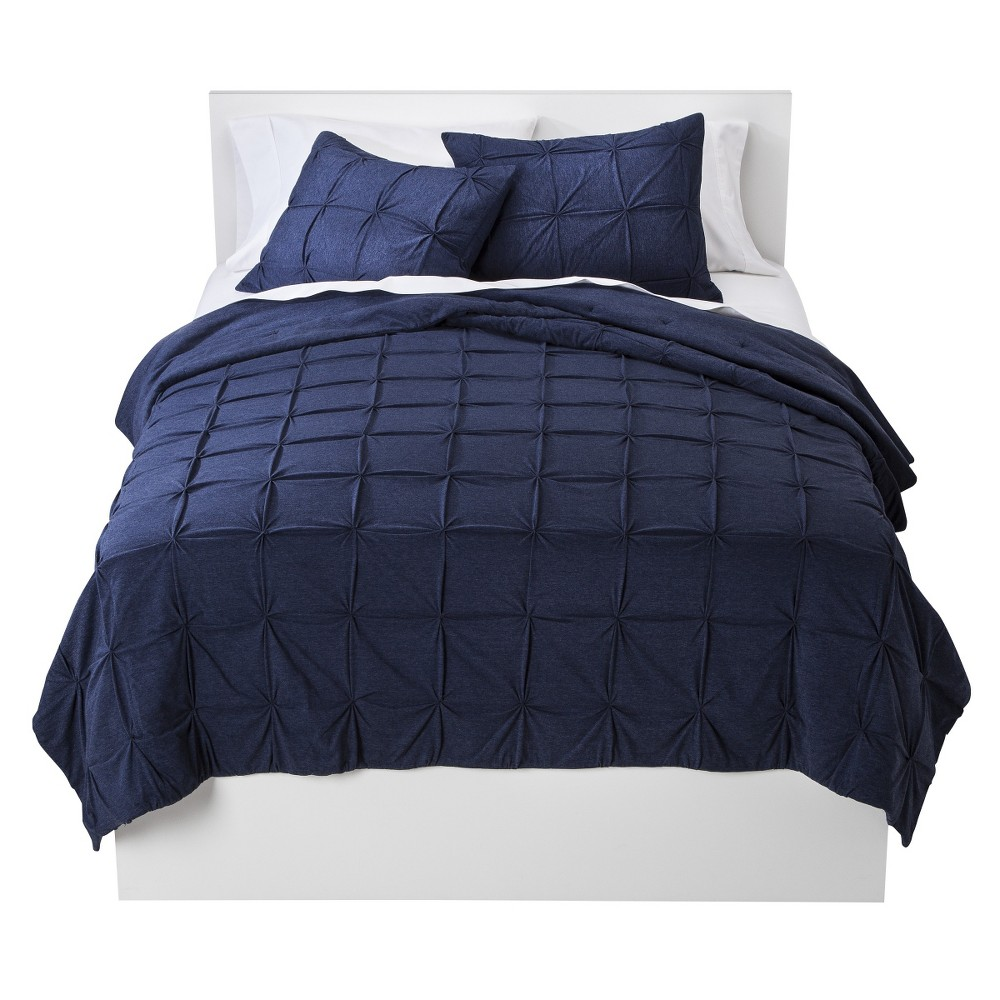 Ultramarine Jersey Reversible Quilt (Twin) - Room Essentials, Blue