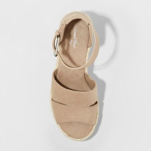 cacd1083f8ce Time And Tru Covered Wedge Universal Thread Women s Caroline Microsuede  Ankle Strap Espadrille Wedge Treasure   Bond Sannibel Platform ...
