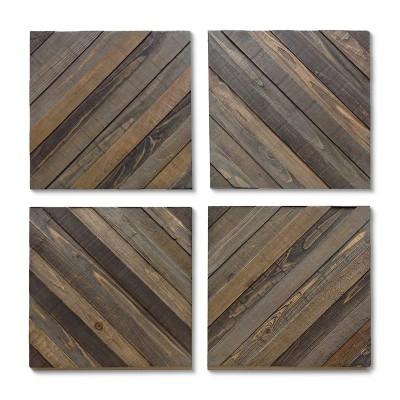 Wood Decorative Panels - Set of 4 - Threshold™