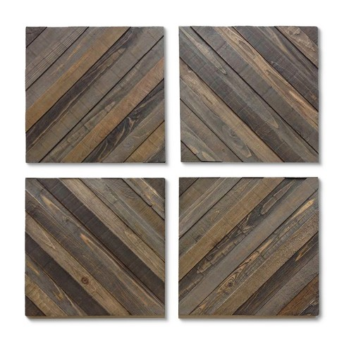 Wood Decorative Panels Set Of 4