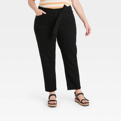 Women's Plus Size Mid-Rise Tapered Jeans - Ava & Viv™