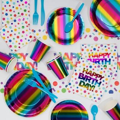 Rainbow Print Birthday Party Kit