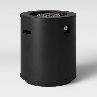 Round Metal Fire Column - Black - Project 62™
