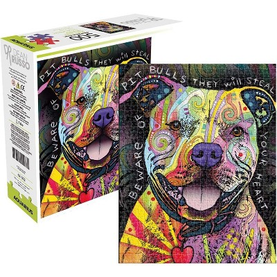 NMR Distribution Dean Russo Beware Pit Bull 500 Piece Jigsaw Puzzle