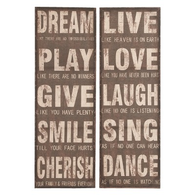 Wooden Wall Panel 47 X 16 (Set of 2)- Olivia & May