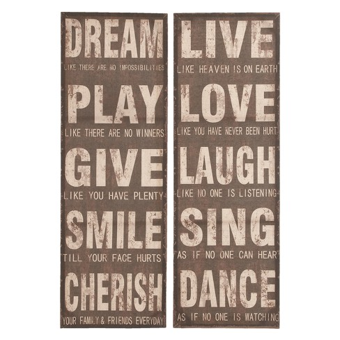Wooden Wall Panel 47 X 16 (Set of 2) - Olivia & May - image 1 of 4