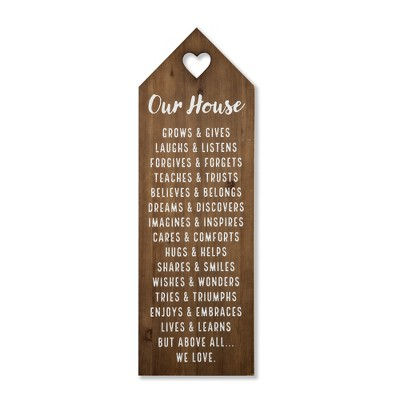 36 X12  Our House Wood Wall Hanging Brown - Threshold™