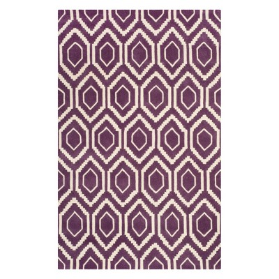 5'X8' Geometric Tufted Area Rug Purple/Ivory - Safavieh
