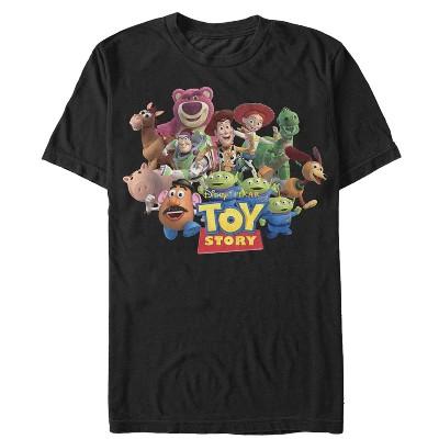 Men's Toy Story Character Logo Scene T-Shirt