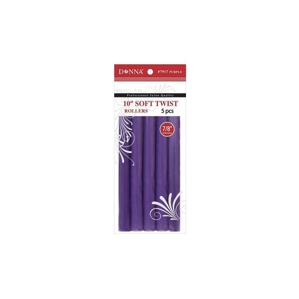 Best Shopping Donna 10 Soft Twist Rollers 5ct Purple