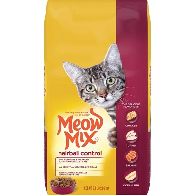 Cat Food: Meow Mix Hairball Control