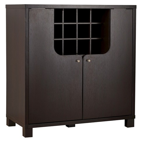 Anton Modern Cutout Design Wine Cabinet Cappuccino - HOMES: Inside + Out - image 1 of 4